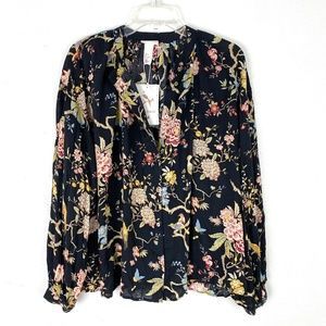 NWT GP&J Baker x H&M Floral Button Up Blouse